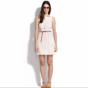 Madewell white eyelet trail mini dress